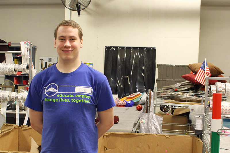 Erik Caldwell is a retail associate making use of Goodwill services