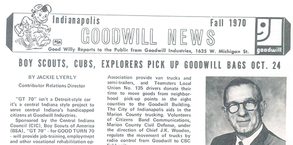 Goodwill News from 1970