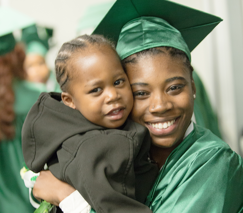 The Excel Center knows when the parents have their diploma, their child is more likely to earn theirs