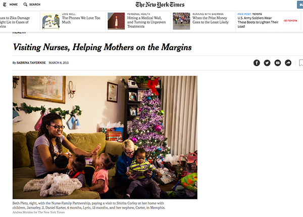 New York Times article on Nurse Family Partnership