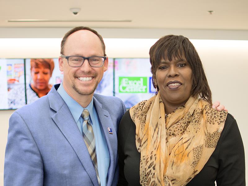 Debora with Kent Kramer, President and CEO
