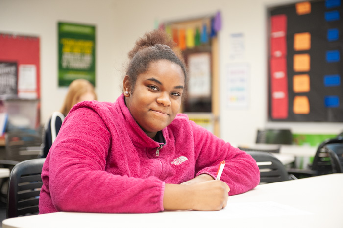 Symone has thrived at Indianapolis Metropolitan High School